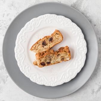 Pieczone plastry deser powyżej widoku