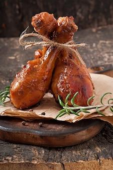 Pieczone udka z kurczaka w marynacie z musztardą miodową