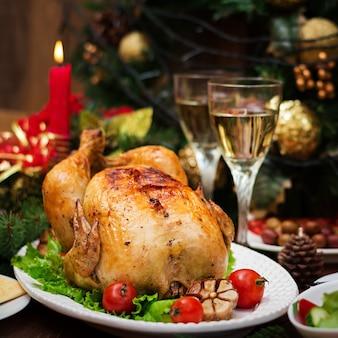 Pieczony indyk lub kurczak