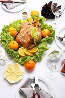 Pieczony kurczak na uroczysty obiad