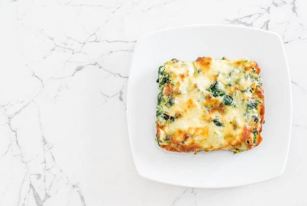 Pieczony szpinak z serem