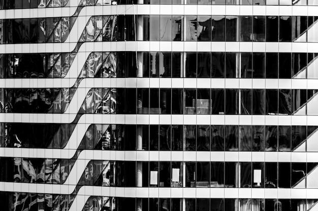 Piękna architektura budynku okna wzór