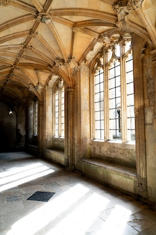 Piękna architektura christ church cathedral oxford, wielka brytania