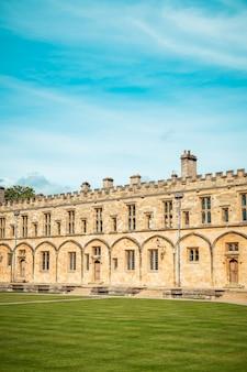 Piękna architektura christ church cathedral w oksfordzie, wielka brytania