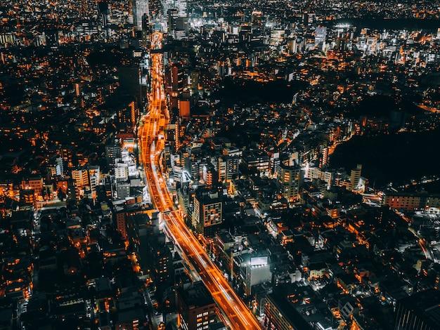 Piękna architektura i budynek tokyo cityscape