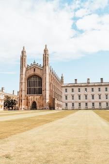 Piękna architektura w king's college chapel w cambridge w wielkiej brytanii