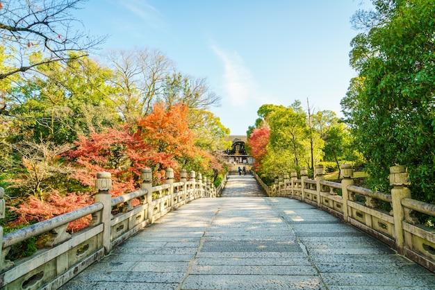 Piękna architektura w kiyomizu-dera temple kioto, japonia