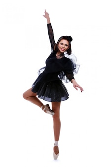 Piękna baletnica taniec taniec baletowy
