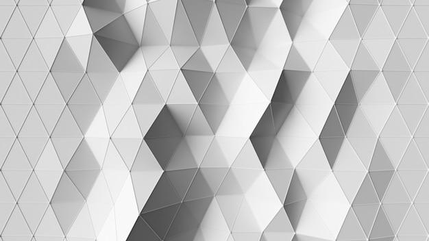 Piękna biała niska wielokątna morfizacja powierzchni