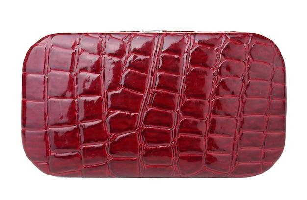 Piękna czerwona torebka damska na białym tle