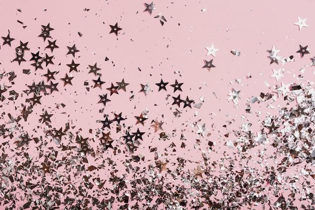Piękna dekoracja cekinów gwiazdy z miejsca kopiowania
