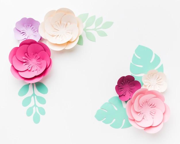 Piękna dekoracja papierowa w kwiaty