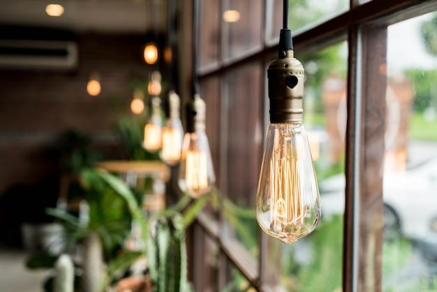 Piękna dekoracja świetlna lampy