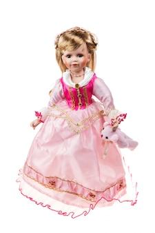 Piękna duża plastikowa lalka