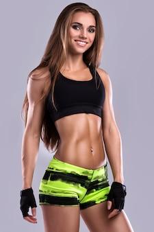 Piękna dziewczyna fitness