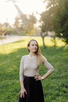 Piękna dziewczyna jesień portret