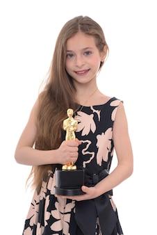Piękna dziewczyna z trofeum