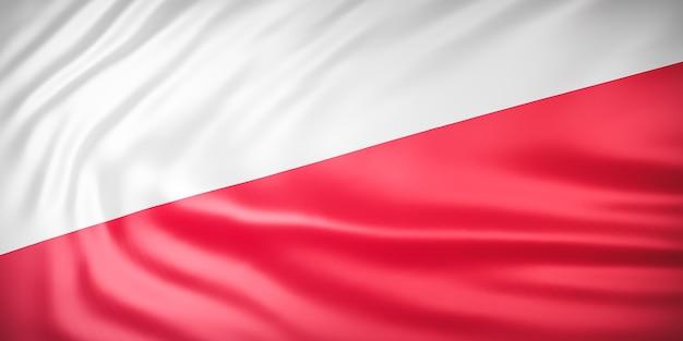 Piękna fala flaga indonezji z bliska