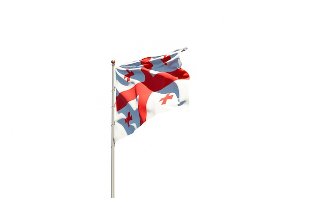 Piękna flaga państwowa gruzji