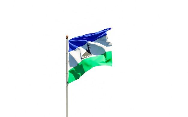 Piękna flaga państwowa lesotho