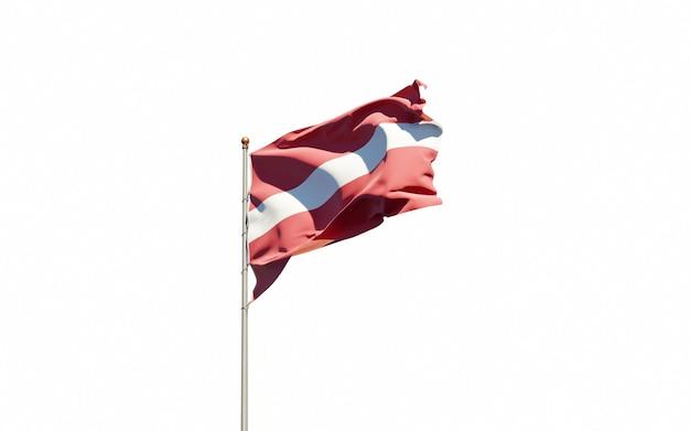 Piękna flaga państwowa łotwy