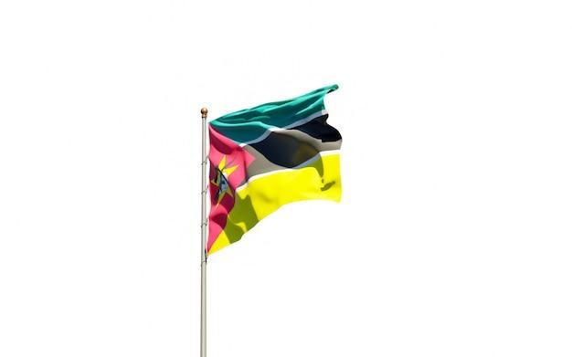 Piękna flaga państwowa mozambiku