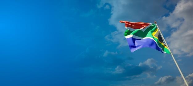 Piękna flaga państwowa republiki południowej afryki