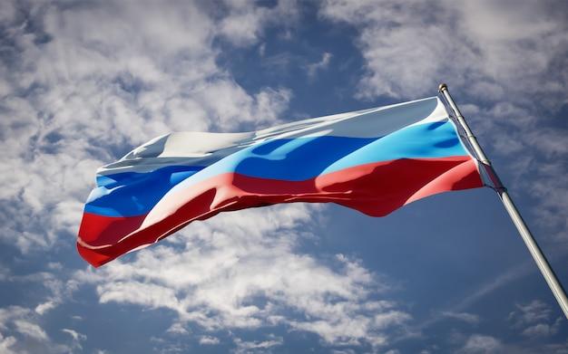 Piękna flaga państwowa rosji 1993 powiewa