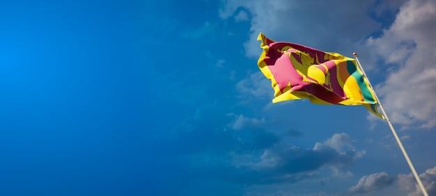 Piękna flaga państwowa sri lanki