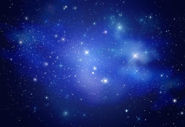 Piękna galaktyka kosmiczna w nocy, koncepcja astronomii