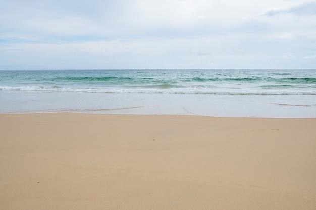 Piękna i czysta plaża. copyspace.