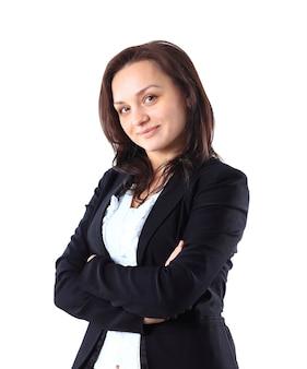 Piękna i urocza bizneswoman.