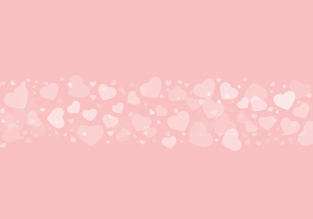 Piękna ilustracja białych serc na różowym tle-idealnej tapecie lub tle