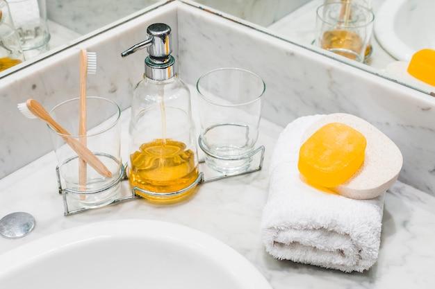 Piękna kompozycja do koncepcji spa lub kąpieli