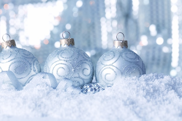 Piękna kompozycja świąteczna na błyszczącym tle