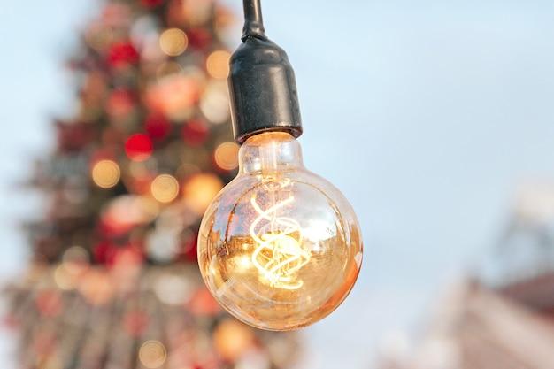 Piękna lampa światła w stylu retro
