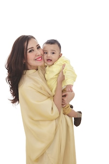 Piękna mama z uroczym synem