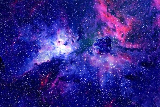 Piękna mgławica w różnych kolorach z galaktykami elementy tego obrazu zostały dostarczone przez nasa