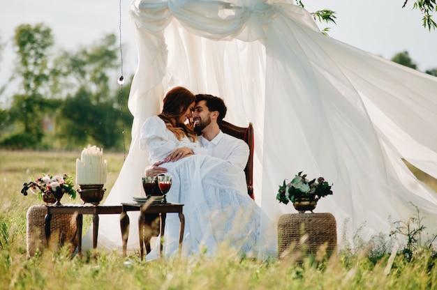 Piękna młoda para w miłości