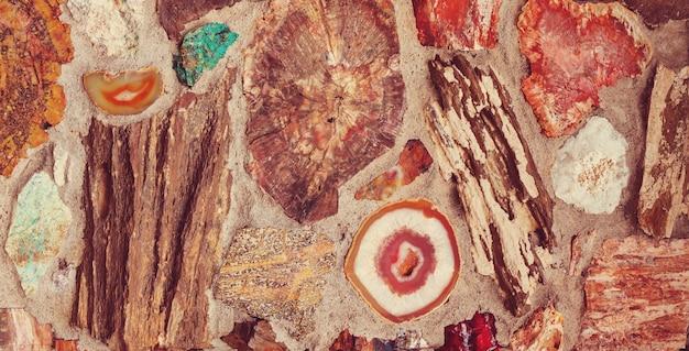 Piękna naturalna tekstura agatu.