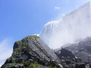 Piękna niagara falls, krajobraz, woda