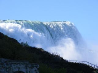 Piękna niagara falls, rock, sprężyny
