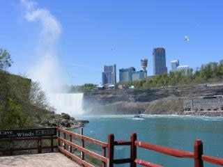 Piękna niagara falls, steam
