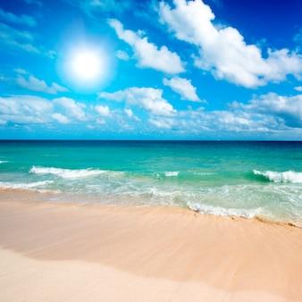 Piękna plaża i morze