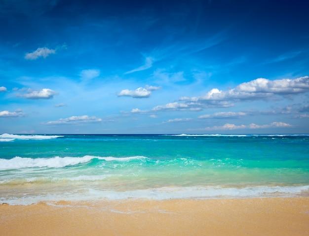Piękna plaża w lecie