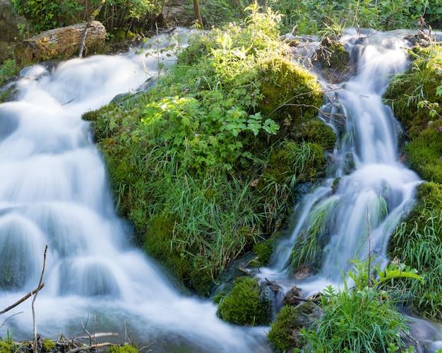 Piękna przyroda z płynącą wodą dookoła