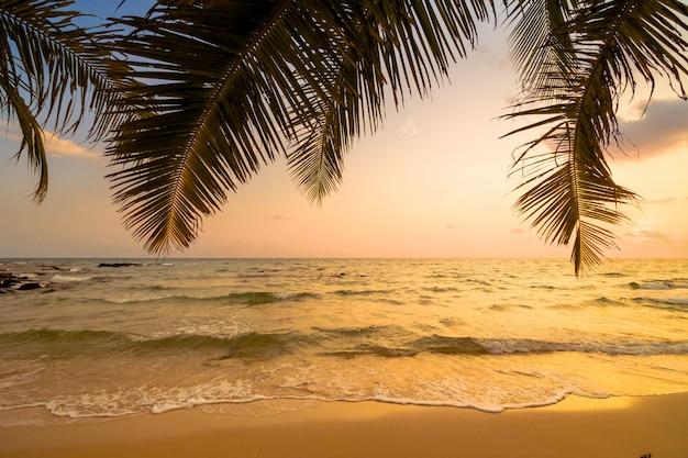 Piękna rajska wyspa z plażą i morzem