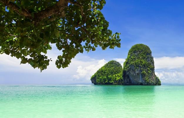 Piękna skała na plaży railay