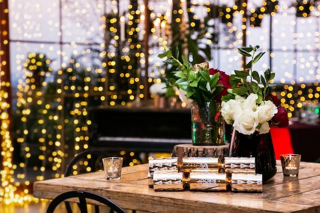 Piękna świąteczna dekoracja wnętrz