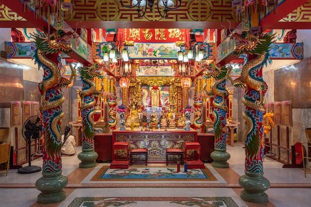 Piękna świątynia sanlugmuang samut sakorn